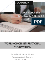 1 DAY WORKSHOP ON INTERNATIONAL PAPER WRITING