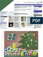 Christmas Advent Calendar for GOSH Child Health Portal 2001