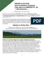 ICOE-Gu Dar Pyin Attacks, Summarized