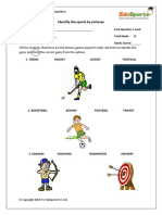 Grade 1 to 2 - Sports Picture Activity