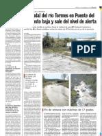 Bajada del nivel del Rio Tormes en Puente del Congosto