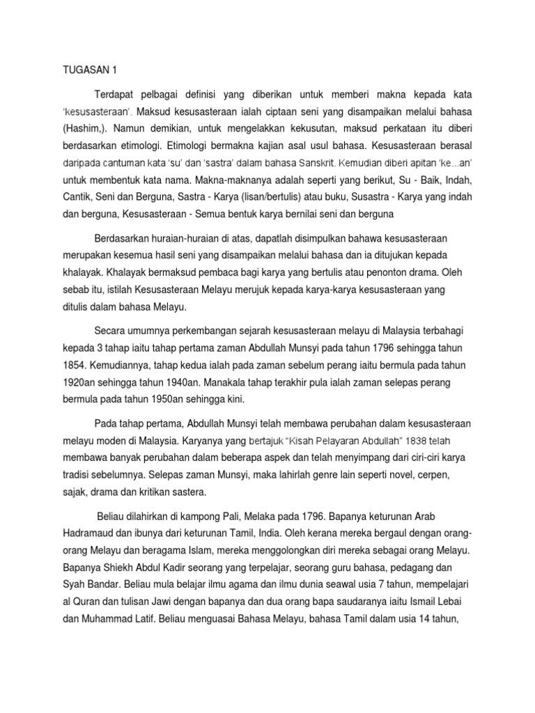 Sejarah Sastera Malaysia