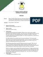 Parent Council Minutes 9th November 2010