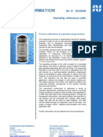 predice calibration of capacitive hygrometers - humidity reference cells