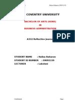 Bachelor Reflective Journal