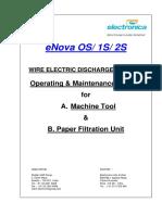 eNova OS,1S & 2S Operating and Maintenance Manual