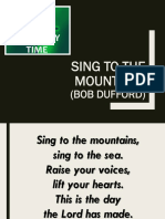 Sing to the Mountains