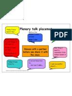 Plenary Talk Placemat