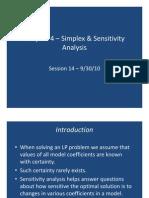 ISE 626 Fall 10 Ch 4 Simplex Sensitivity