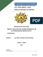 MODULO APLICATIVO DEL SISTEMA DIFERENCIAL DE LA CONFIGURACION VEHICULAR 4X2