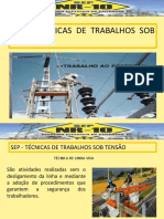 TÉCNICAS DE TRABALHO SOBRE TENSÃO A NR-10  2017