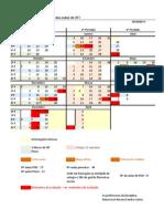 Calendarização de actividades e momentos de avaliação
