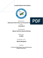 Tarea 6 de Educacion Para La Paz