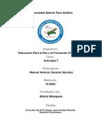 Tarea 7 de Educacion Para La Paz