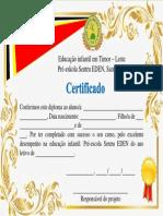 Certificado Pre-escola sentru EDEN