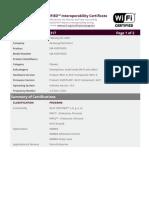 Certificate WFA81317