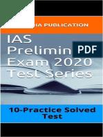 IAS Preliminary Exam 2020 Test Series