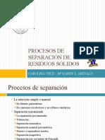 Procesos de Separacion de Residuos Sólidos