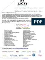 CALL FOR PAPERS - Journal Publications - September 2011
