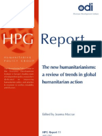 New Humanitarians - Trends in Assistance