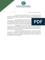 Comunicado Coninagro Santa Fe - Retenciones