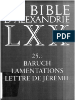 Baruch La Bible D'Alexandrie LXX