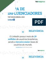 FSB e Linkedin - Mapa de Influenciadores Top Voices 2019