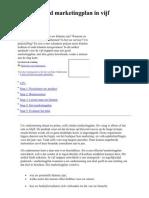 Een Doortimmerd Marketing Plan in Vijf Stappen - Microsoft September 2007