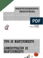 Clase 3. TIPOS DE MANTENIMIENTO