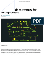 A Short Guide to Strategy for Entrepreneurs