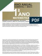 Planejamento Anual de matemática 1 ano do fundamental de acordo com a BNCC 2020
