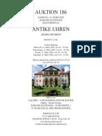 Auktionskatalog 186