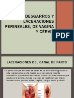 Desgarros y laceraciones perineales, de vagina y