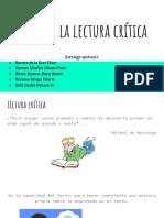 Fases de la lectura crítica