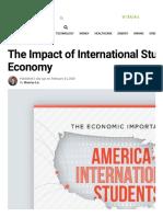 The Economic Impact of International Students on the U.S. Economy