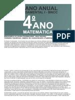 Planejamento Anual de matemática 4 ano do fundamental de acordo com a BNCC 2020