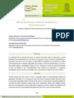Métodos de evaluación del Nivel de Actividad Física