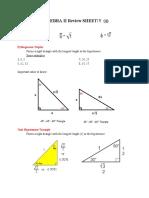 Algebra II Review Sheet