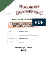 DIABETES GESTACIONAL DE PRECLAMSIA Y ECLAMCIA