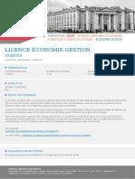 Licence Économiie-Gestio