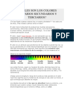 CUÁLES SON LOS COLORES PRIMARIOS SECUNDARIOS Y TERCIARIOS