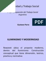MODERNIDAD TRABAJO SOCIAL