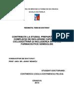 Contributii capsaicina - ciclodetrina si includerea in forme farmaceutice semisolide
