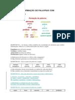 ATIVIDADES FORMAÇÃO DE PALAVRAS COM GABARITO
