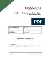 DS0054 - Online Navigation - Menu Collapse Design Specification v0.1