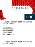 Quiz Teatral infantil