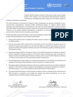 WHO-IPSF Joint Statement on Tobacco Control