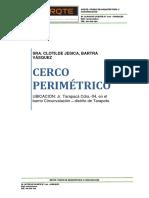 MEMORIA DESCRIPTIVA PARA LICENCIA DE CONSTRUCCIÓN DE CERCO PERIMÉTRICO