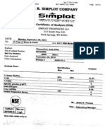 Certific of Analysis Los Angeles 0.46 Ppm Lead