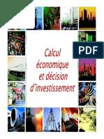 Calcul économique et décision d'investissement